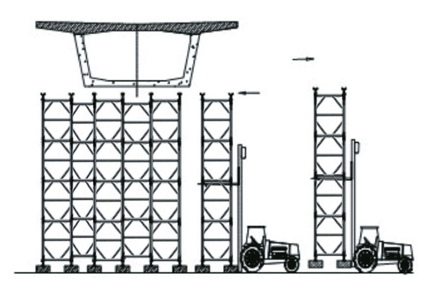 Complete tower set transport via trolley